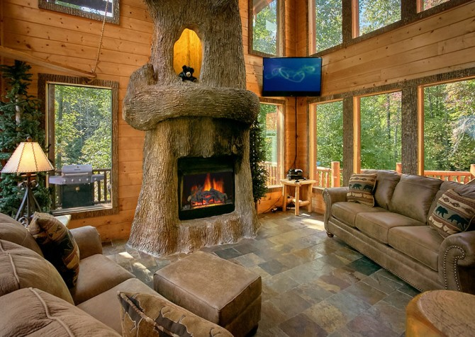 Gatlinburg Cabin Rentals Splashin Treehouse