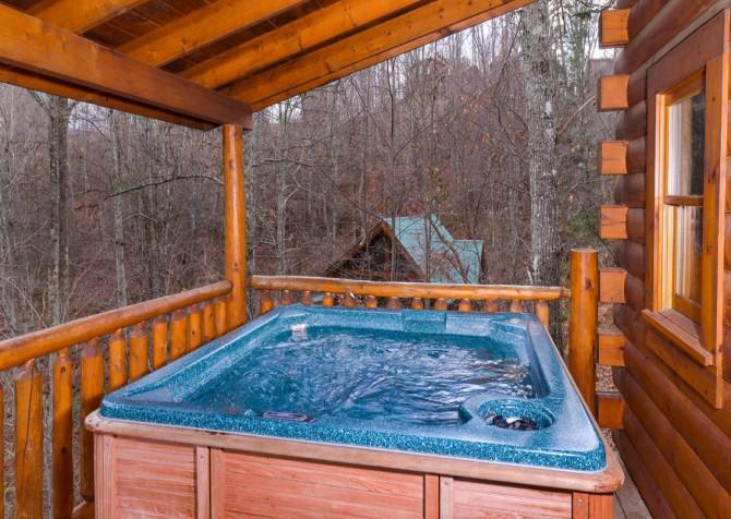 Gatlinburg Sweet Temptations Hot Tub