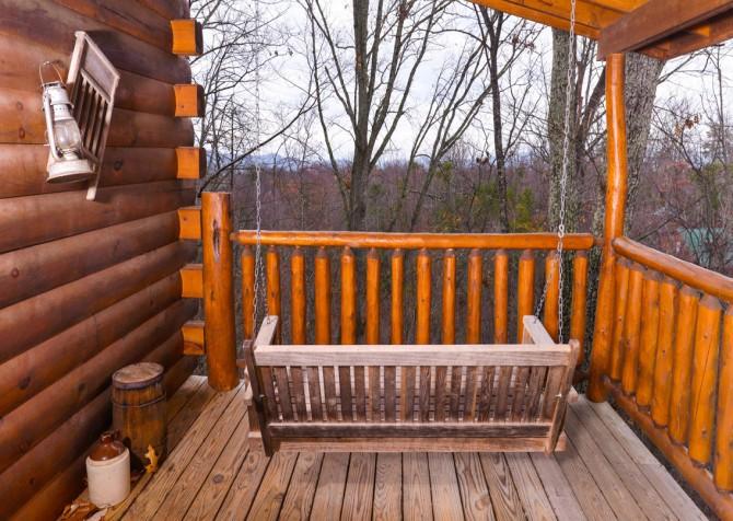 Gatlinburg Sweet Temptations Porch Swing
