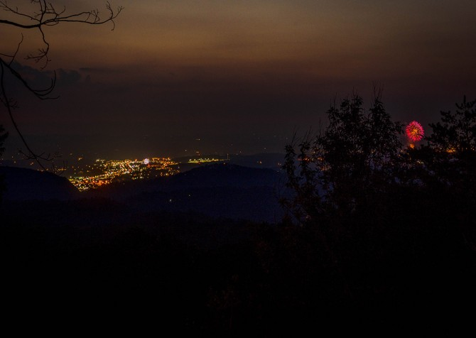 Gatlinburg Swept Away Night View