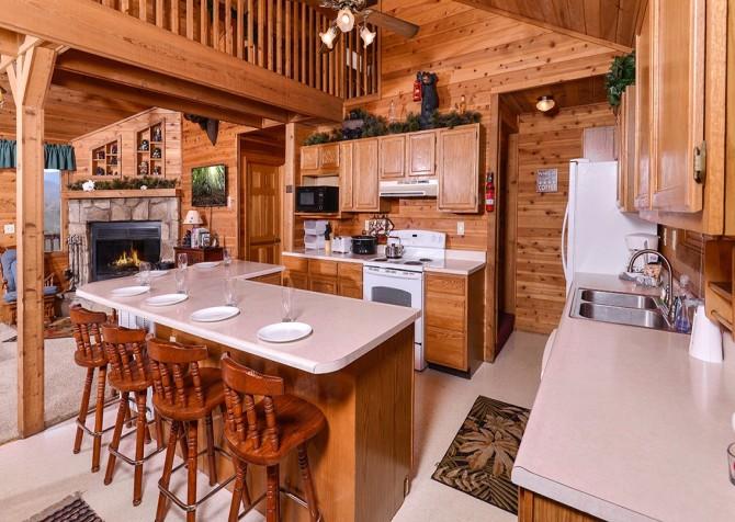 Gatlinburg The Smoky Mountain Lodge Kitchen
