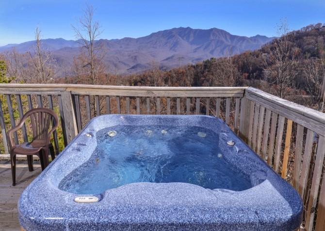 Gatlinburg - Sky High - Hot Tub View