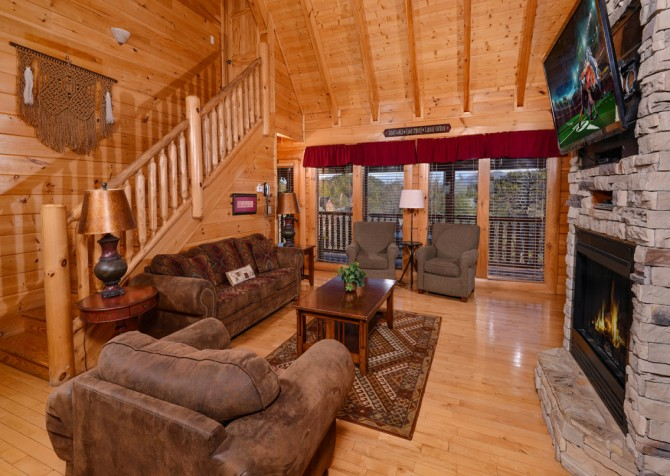 Pigeon Forge Cabin- It's A Wonderful Life – Living Seating