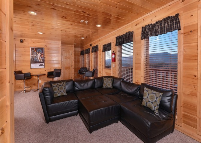 Pigeon Forge Cabin- It's All Good – Theater Room