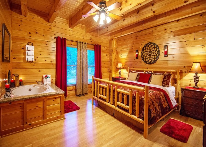 Pigeon Forge Cabin- Be Our Guest – Bedroom 1