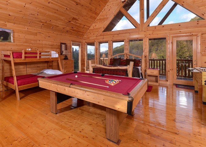 Pigeon Forge Cabin- Be Our Guest – Loft Pool. Table
