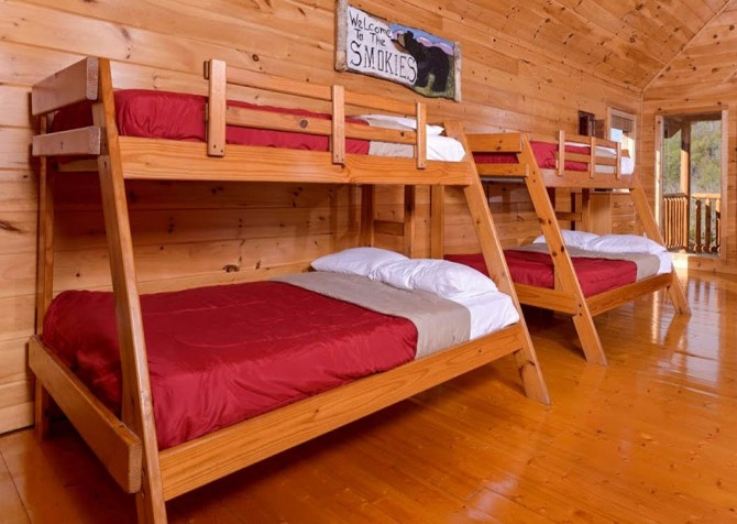 Pigeon Forge Cabin- Be Our Guest – Loft Bunkbeds