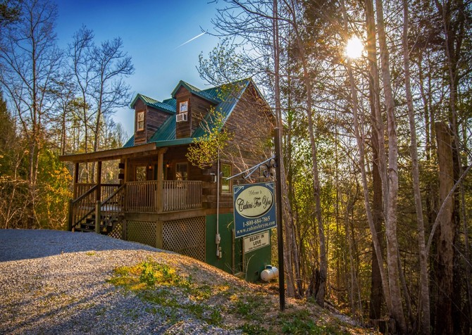 Pigeon Forge Cabin - Bear In Love - Cabin Exterior