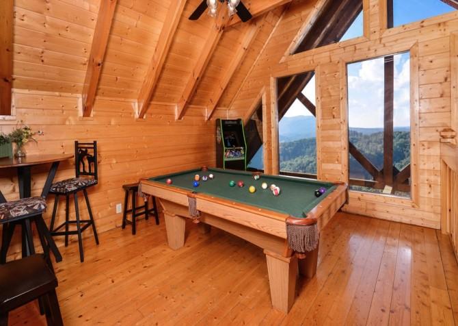 pigeon forge cabin – black bear ridge mountain views - game room