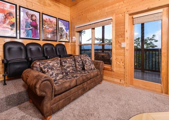 pigeon forge cabin – black bear ridge mountain views - theater