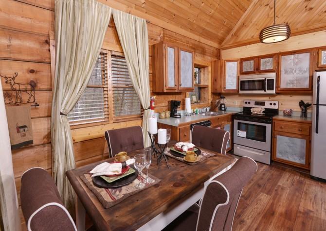 pigeon forge cabin - a secret romance - kitchen
