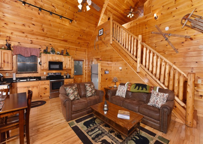 Pigeon Forge - Bear Hiney Hideaway - Living Room