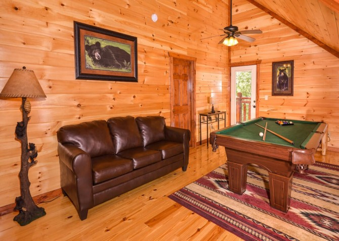 pigeon forge cabin – big bear plunge – games