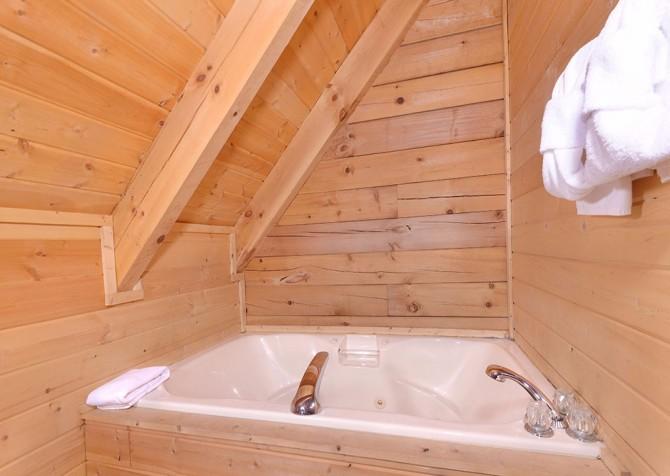 pigeon forge cabin – big chill– bathroom