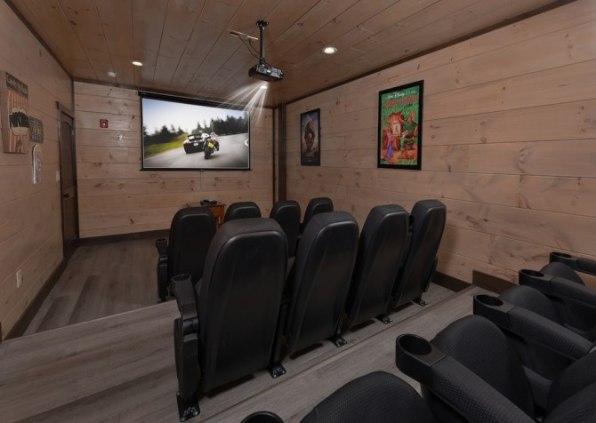Pigeon Forge Cabin - Big Forest Lodge -  Theater Room