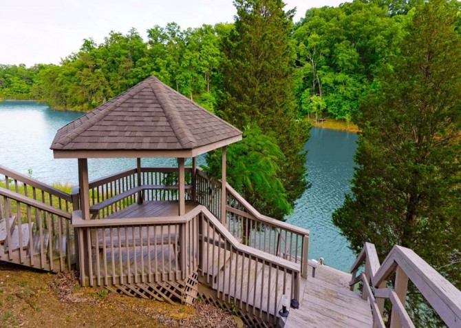 pigeon forge cabin – boone docks – view