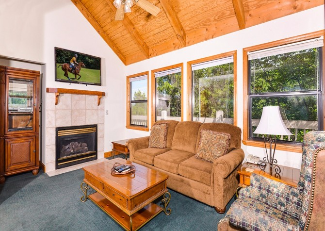 pigeon forge cabin – boone docks – living