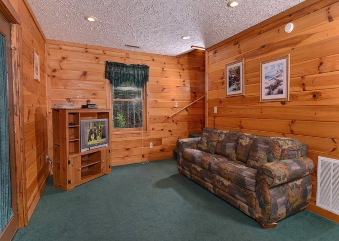pigeon forge cabin – brink of paradise – game room
