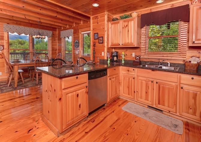 pigeon forge cabin – camp david – kitchen