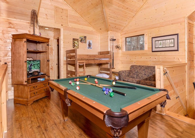 Pigeon Forge Cabin   Copper River   Game Room