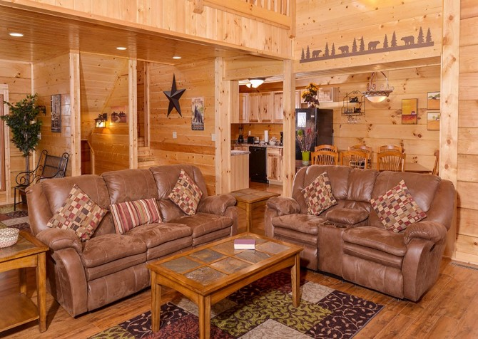 Pigeon Forge cabin - Copper River - Living Room