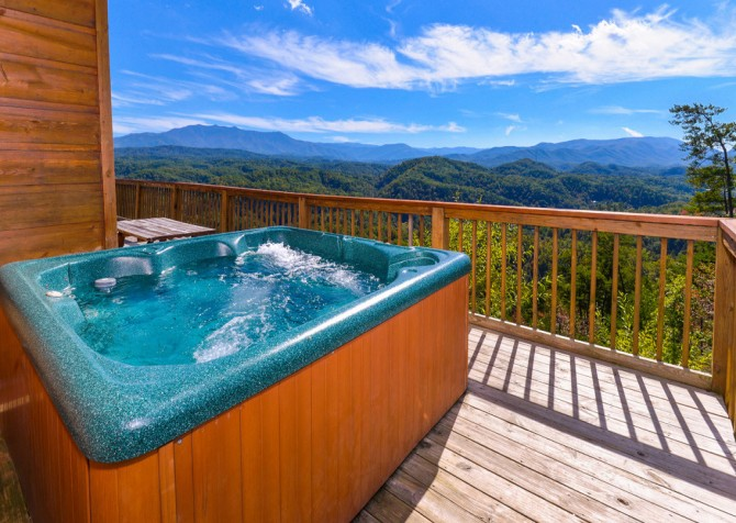pigeon forge cabin – crestview lodge –  hot tub