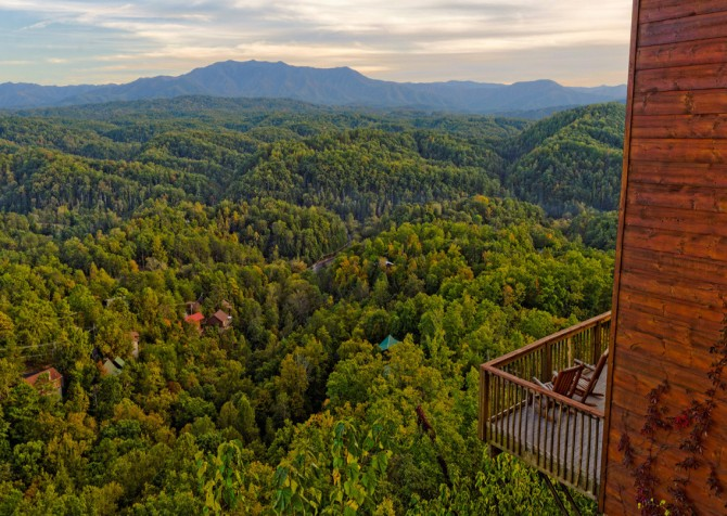 pigeon forge cabin – crestview lodge – view