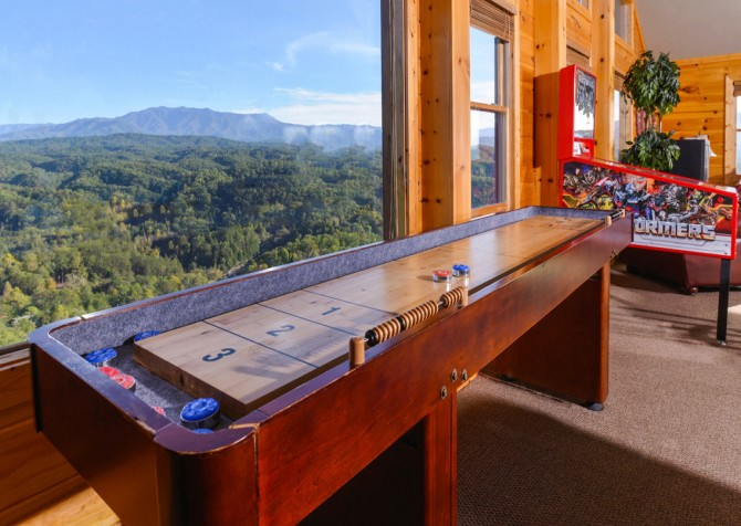 pigeon forge cabin – crestview lodge – game room