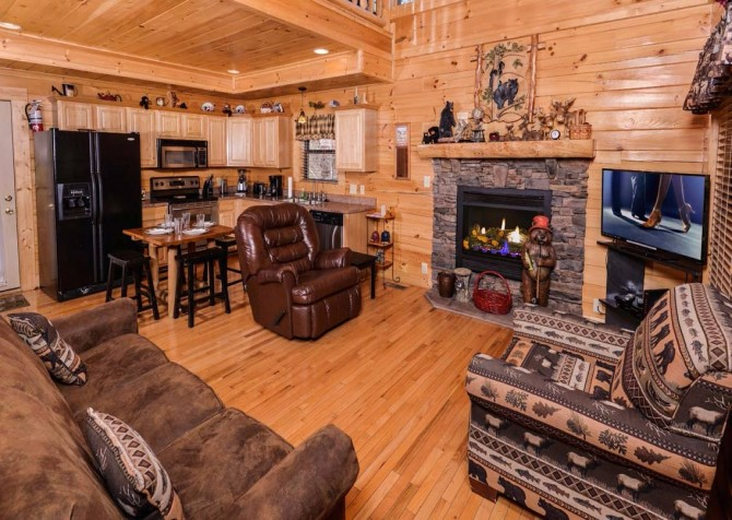 pigeon forge cabin – dancing with the stars – living