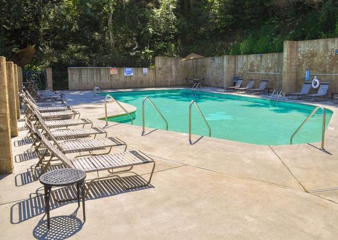 pigeon forge cabin – deer leap – resort pool