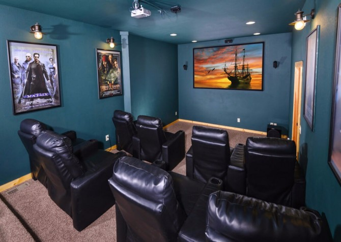 pigeon forge cabin – deer leap – theater