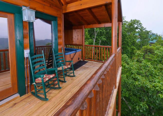 pigeon forge cabin – deer leap – view