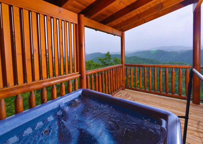 pigeon forge cabin – deer leap – hot tub