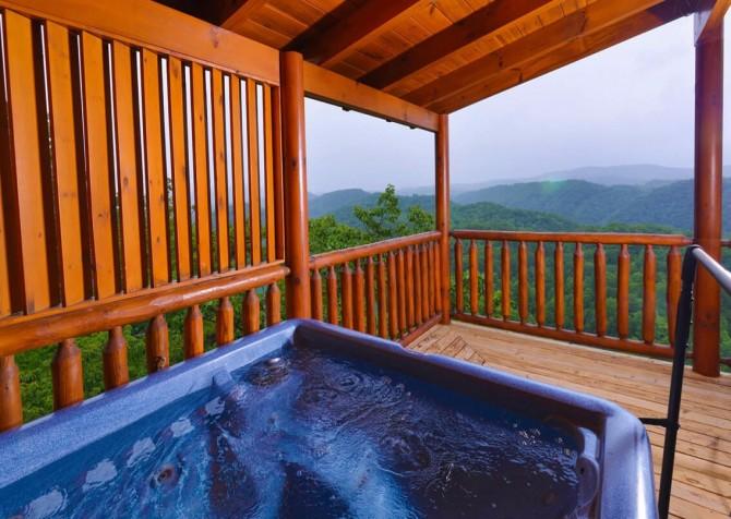 pigeon forge cabin – deer leap – hot tub