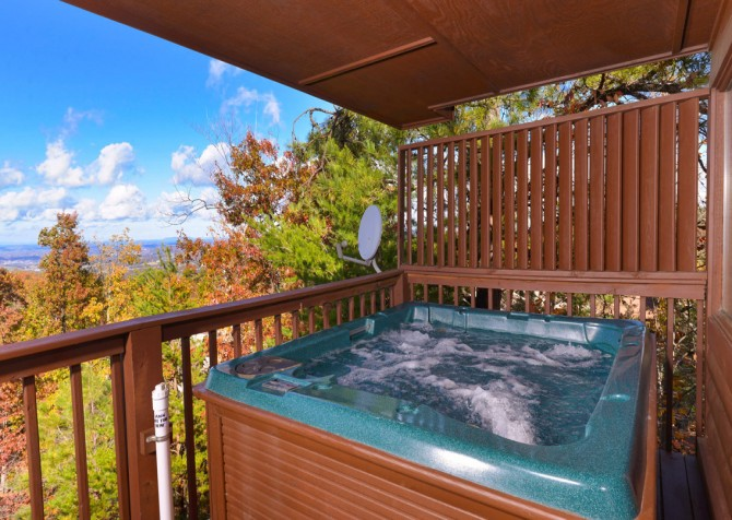 pigeon forge cabin – eagles landing – view