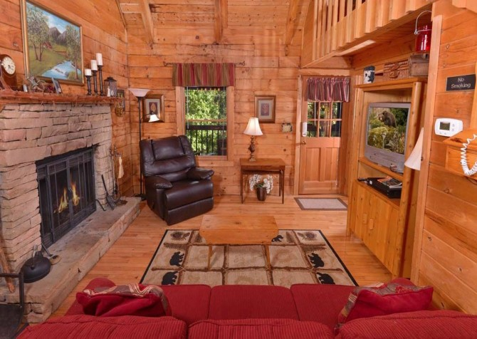 pigeon forge cabin – endless love – living