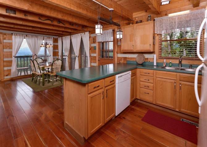 pigeon forge cabin – hard to leave – kitchen