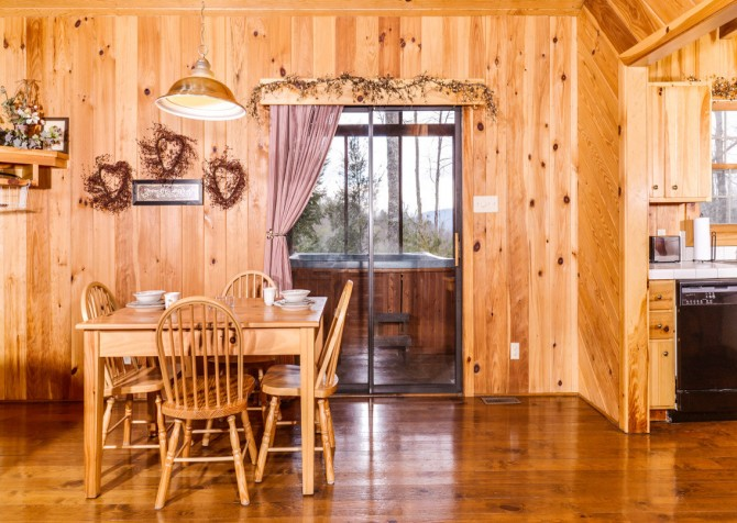 pigeon forge cabin – hearts desire – kitchen