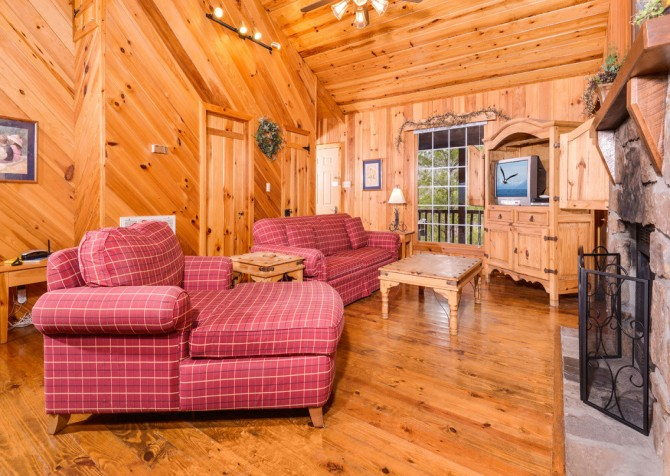 pigeon forge cabin – hearts desire – view
