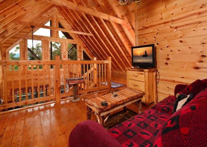 pigeon forge cabin – high-bear-nation – living