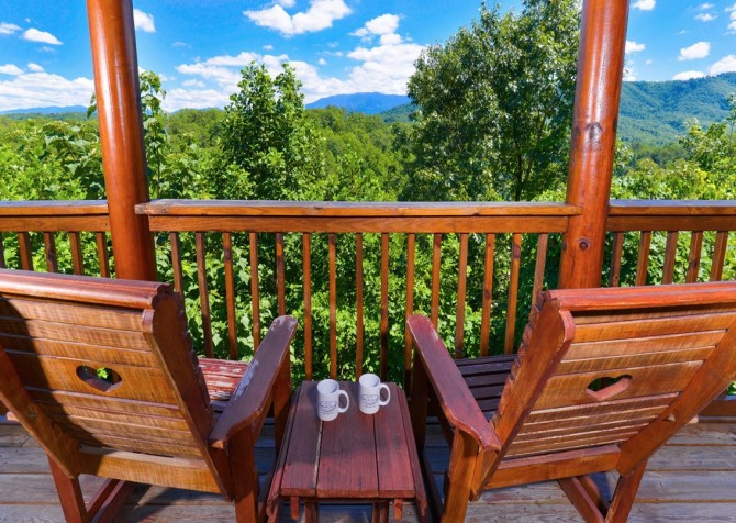 pigeon forge cabin – higher ground – view