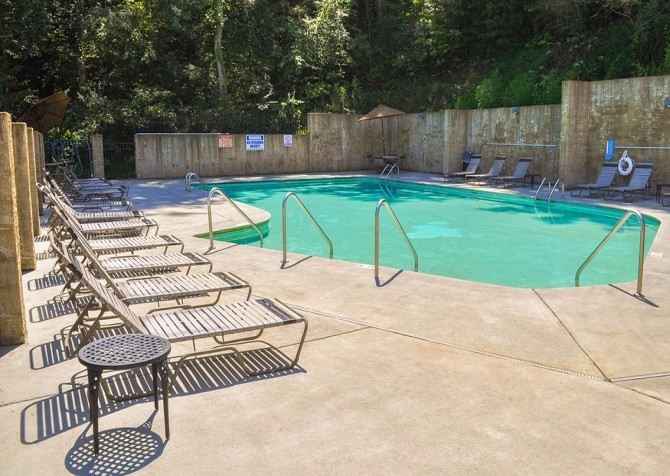 pigeon forge cabin – higher ground – resort pool