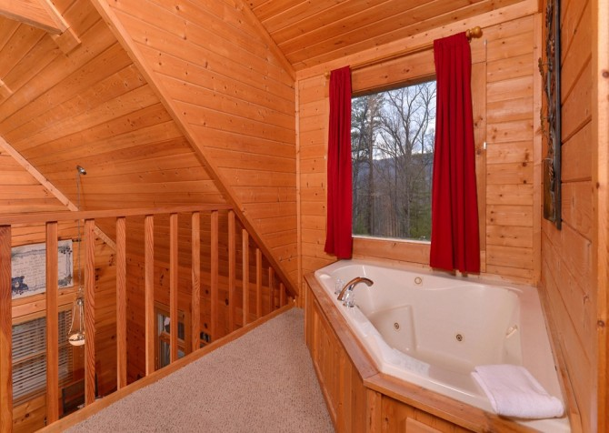pigeon forge - knotty and nice - tub