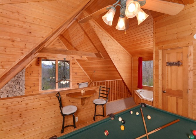 pigeon forge - knotty and nice - game room
