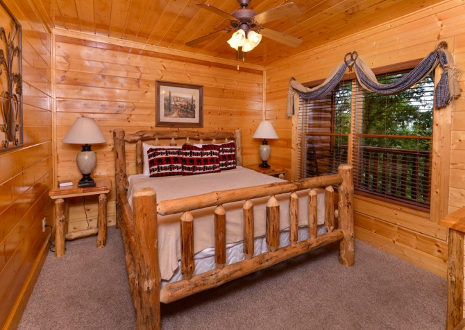 pigeon forge - legacy mtn lazy days - bedroom