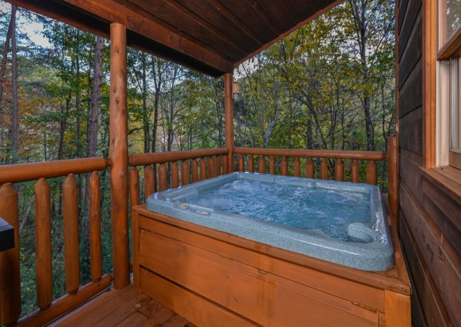 Pigeon Forge - The Looney Bin - Outdoor Hot Tub