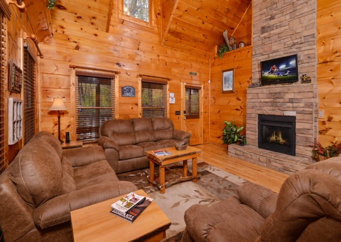 Pigeon Forge - The Looney Bin - Living Room