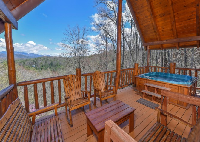 Pigeon Forge - Moondance - Deck Seating