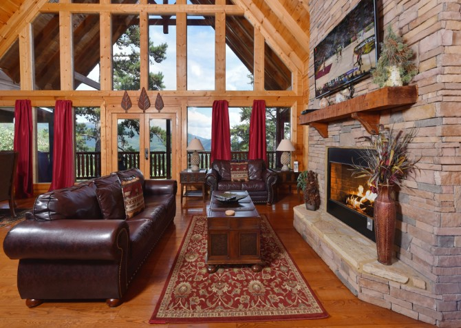 pigeon forge - Once Upon a View - Living Room