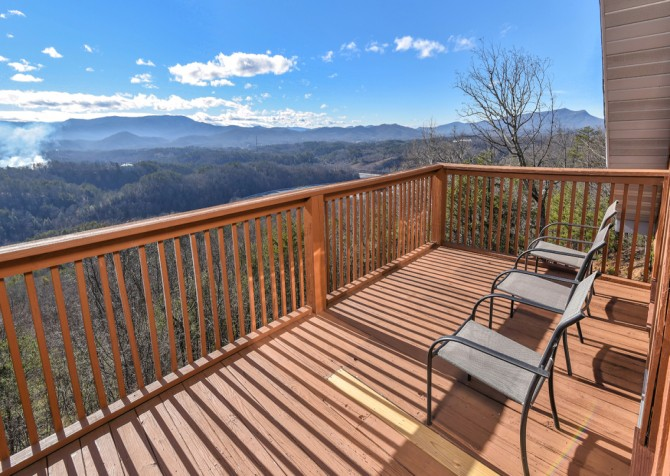Pigeon Forge - Smoky View Top Shelf - Private Deck Seating